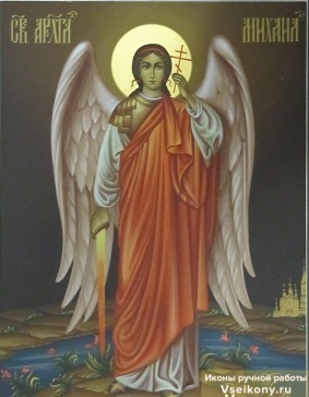 Икона архангелы михаил и гавриил рукопосная купить