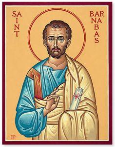 Рукописная икона Апостол Варнава купить с доставкой