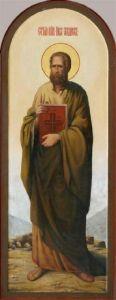 Рукописная икона Апостол Иаков Заведеев