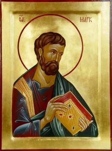 Рукописная икона Апостол Марк купить с доставкой
