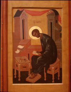 Рукописная икона Апостол Марк