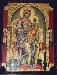 Рукописная Аризонская икона Божией Матери купить с доставкой