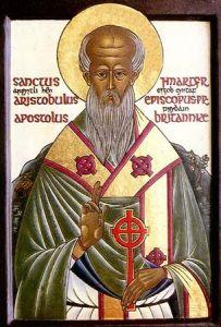 Рукописная икона Апостол Аристовул купить с доставкой