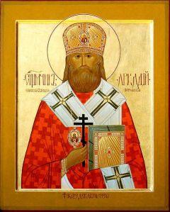 Рукописная икона Святой Аркадий Бежецкий купить с доставкой