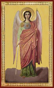 Рукописная икона Архангел Михаил купить с доставкой