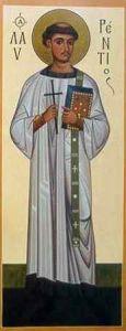 Рукописная икона Архидиакон Лаврентий