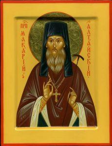 Рукописная икона Архимандрит Макарий Глухарев купить с доставкой