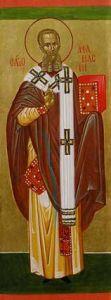 Рукописная икона Афанасий Великий купить с доставкой