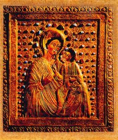 Рукописная Ацкурская икона Божией Матери купить с доставкой