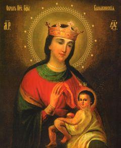 Рукописная икона Балыкинская Божия Матерь купить с доставкой
