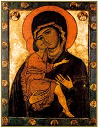 Рукописная икона Белозерская Божия Матерь купить с доставкой