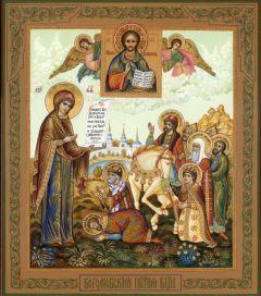 Рукописная икона Боголюбская Божия Матерь