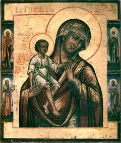 Рукописная икона Борколабовская Божия Матерь купить с доставкой