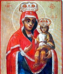 Рукописная икона Братско-Борщаговская Богоматерь купить с доставкой