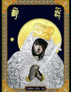 Рукописная икона Бучинская Богоматерь купить с доставкой