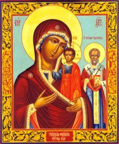 Рукописная икона Ржевская Божия Матерь купить с доставкой