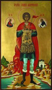 Рукописная икона Святой Валерий Мелитинский
