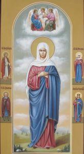 Рукописная икона Святая Валерия (Калерия)