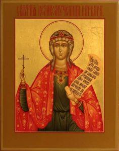Рукописная икона Варвара Великомученица купить с доставкой