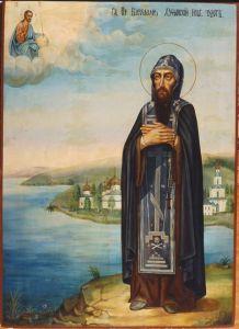 Рукописная икона Варлаам Хутынский купить с доставкой