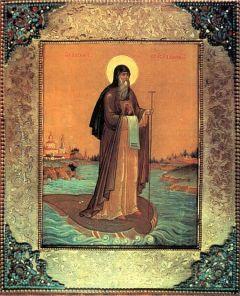 Рукописная икона Василий Рязанский купить с доставкой