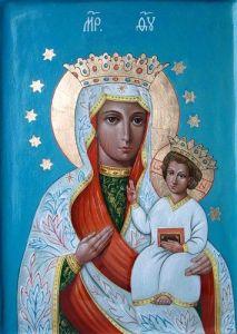 Рукописная икона Васьковская Божия Матерь купить с доставкой