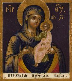 Рукописная икона Венская Божия Матерь (в Уграх)