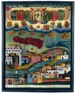 Рукописная икона Видение Пономаря Тарасия купить с доставкой