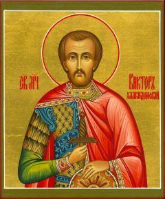 Рукописная икона Виктор Халкидонский купить с доставкой