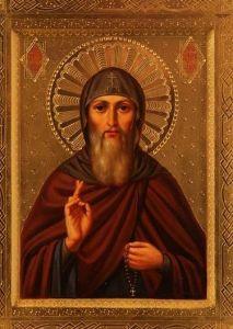 Рукописная икона Виталий Александрийский купить с доставкой