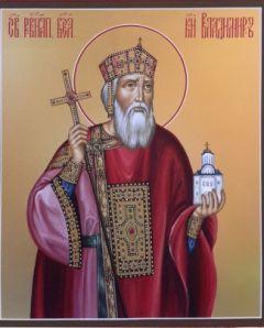Рукописная икона Владимир князь Равноапостольный