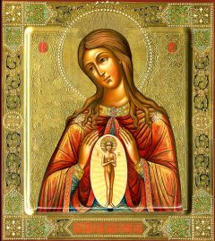 Рукописная икона Помощница в родах купить с доставкой