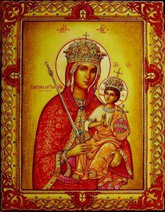 Рукописная икона Галатская Божия Матерь