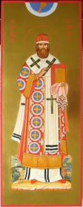 Рукописная икона Герман Казанский