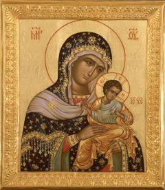 Рукописная икона Голубинская  (Голубицкая, Коневская) Божия Матерь