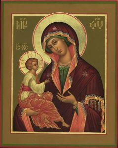 Рукописная икона Гребневская Божия Матерь купить с доставкой