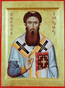 Рукописная икона Григорий Палама купить с доставкой