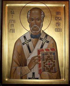 Рукописная икона Григорий Чудотворец Неокесарийский