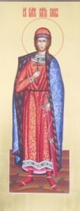 Рукописная икона Святой Глеб купить с доставкой