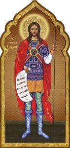 Рукописная икона Гордий Каппадокийский купить с доставкой