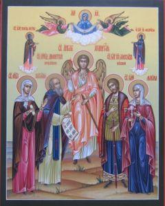 Рукописная семейная икона 16 купить с доставкой