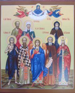 Рукописная семейная икона 17 купить с доставкой