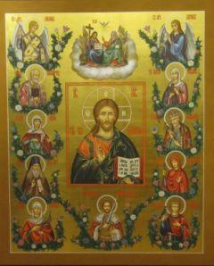 Рукописная семейная икона 21 купить с доставкой