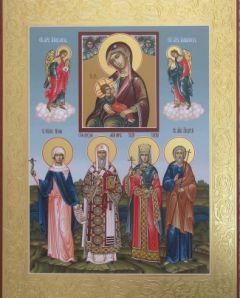 Рукописная семейная икона 27 купить с доставкой