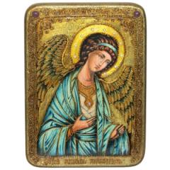 Икона ручной работы Ангел Хранитель камни купить с доставкой