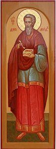 Рукописная икона Диомид Врач купить с доставкой