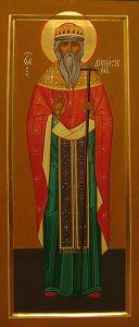 Рукописная икона Дионисий Радонежский купить с доставкой