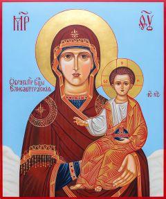 Рукописная икона Елисаветградская купить с доставкой