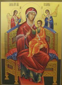 Рукописная икона Всецарица купить с доставкой
