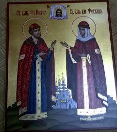 Рукописная икона Петр и Феврония 37 купить с доставкой